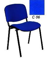 Стул Изо черный С06 (ткань синяя)