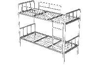 МК Кровать двухъярусная 1980х820х1575