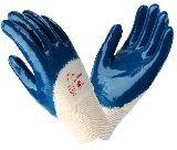 Перчатки нитриловые синие ЛАЙТ неполный облив