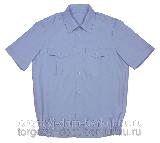Рубашка форменная короткий рукав серо-голубой
