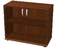 Секция шкафа низкая закрытая остекленная 877х415х727мм